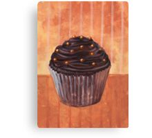 Chocolate Monster Cupcake Canvas Print