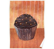 Chocolate Monster Cupcake Poster