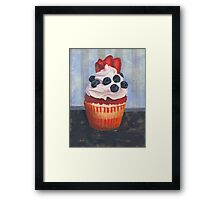 Mad Blueberries Cupcake Framed Print