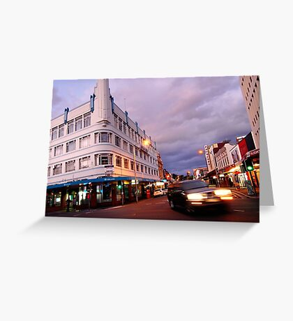 evening, brisbane street (launceston) Greeting Card