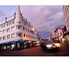 evening, brisbane street (launceston) Photographic Print