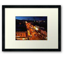 evening, elizabeth street (hobart) Framed Print