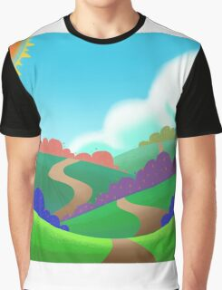 Colorful Field. Graphic T-Shirt
