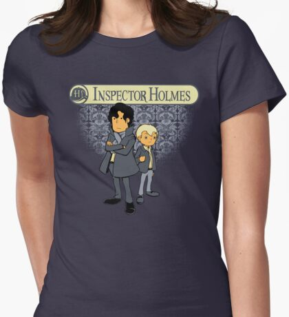 Inspector Holmes Womens Fitted T-Shirt