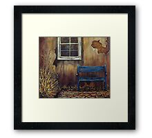 The Blue Bench Framed Print