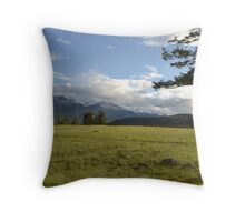 Mountains and the Meadow Throw Pillow