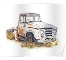 Kazart Rusty Truck Poster