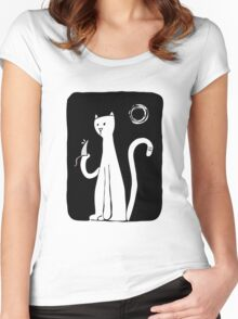 Cat & Mouse - Black Women's Fitted Scoop T-Shirt