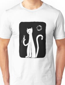 Cat & Mouse - Black Unisex T-Shirt