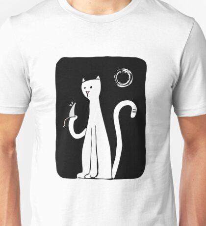 Cat & Mouse - Black Unisex T-Shirt