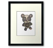cute panda bear Framed Print