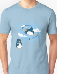 Penguin Believe I Can Fly T-Shirt