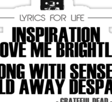Grateful Dead - Terrapin Station Lyric Sticker