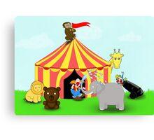 Fun Cartoon Circus Scene Canvas Print