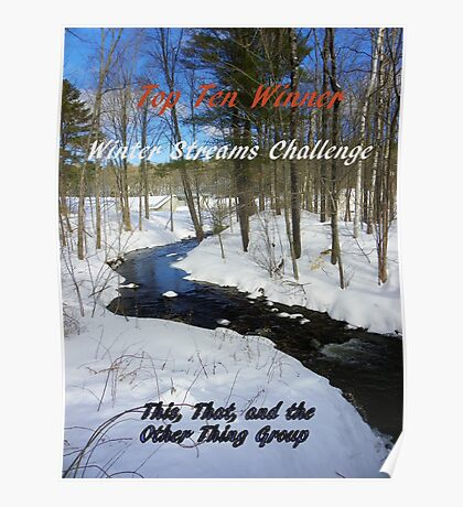 Top Ten Winner - Winter Streams Poster