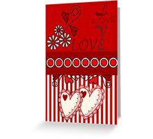 Romantic Love / Valentine's day card Greeting Card