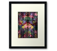 RAINBOW FRENZY Framed Print