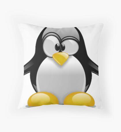 Tux The Penguin Throw Pillow