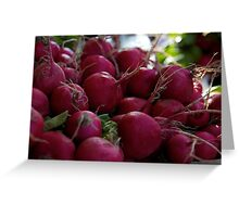 fresh radishes Greeting Card