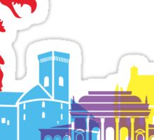 Ljubljana skyline pop Sticker