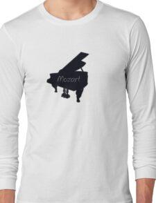 Mozart piano play tee  Long Sleeve T-Shirt