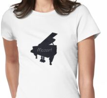 Mozart piano play tee  Womens Fitted T-Shirt