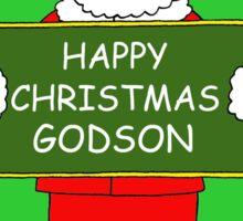 Happy Christmas Godson. Sticker