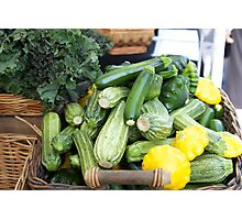 squash and lettuce Photographic Print