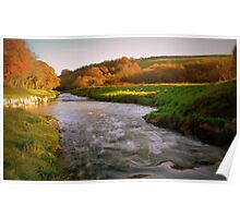 """"""" Flowing In Autumn's Colours """" Poster"""