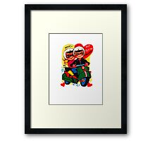 scooter fun dear be my valentine campy tee Framed Print