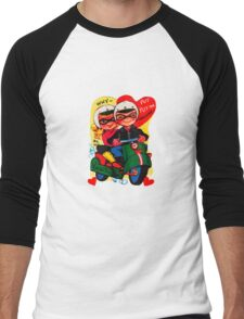 scooter fun dear be my valentine campy tee Men's Baseball ¾ T-Shirt
