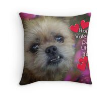 Happy Valentine for Biddy Throw Pillow