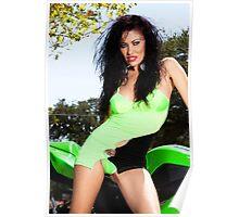 green monster bike Poster