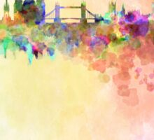London skyline in watercolor background Sticker