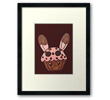 strawberry bunny cupcake Framed Print