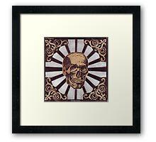 Skull w/Starburst Framed Print