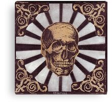 Skull w/Starburst Canvas Print
