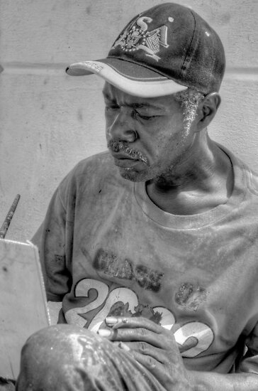 Street Painter Artist in Nassau, The Bahamas by 242Digital