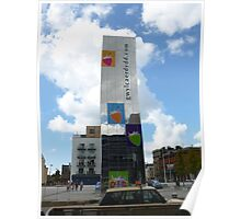 Cardiff Bay Fountain. Poster