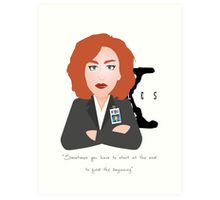 X Files - Dana Skully Art Print