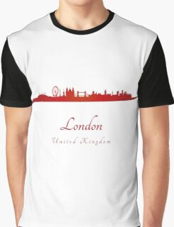 London skyline in red Graphic T-Shirt