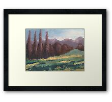 Purple Trees Framed Print