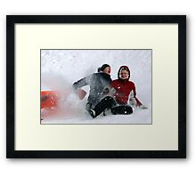 SNOW WIPEOUT! Framed Print