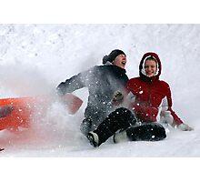 SNOW WIPEOUT! Photographic Print