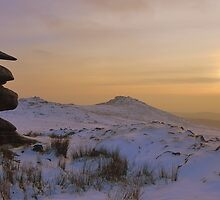 Cornwall: Winter Evening at Showery Tor by Rob Parsons