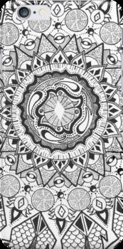Southern Circles - Black & White by Coboh