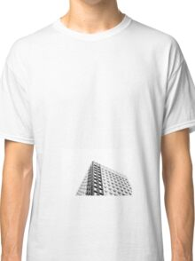 black and white building  Classic T-Shirt