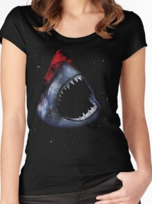 12th Doctor Who Star/Space Shark T-Shirt Ver. 1 Women's Fitted Scoop T-Shirt