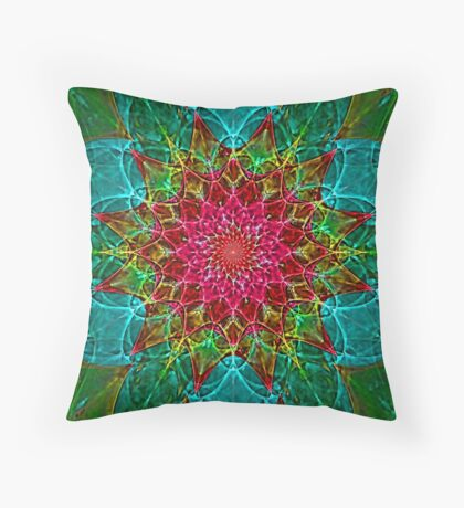 Stained Glass Foci Throw Pillow