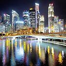 singapore skyline by mugley